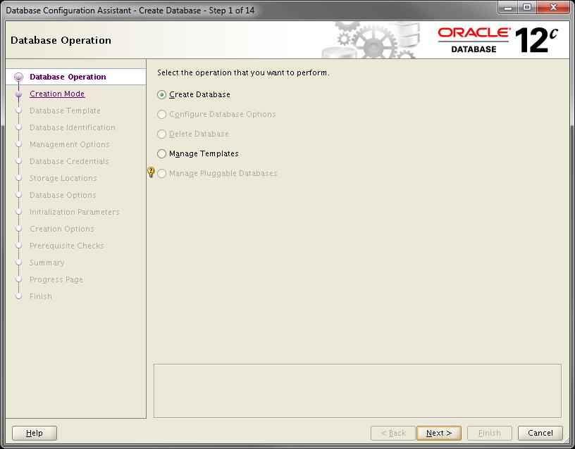 2014-07-30 11_54_51-Database Configuration Assistant - Create Database - Step 1 of 14