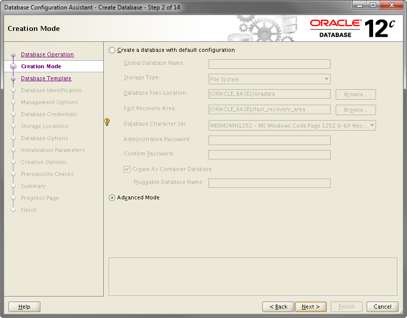 2014-07-30 11_55_03-Database Configuration Assistant - Create Database - Step 2 of 14