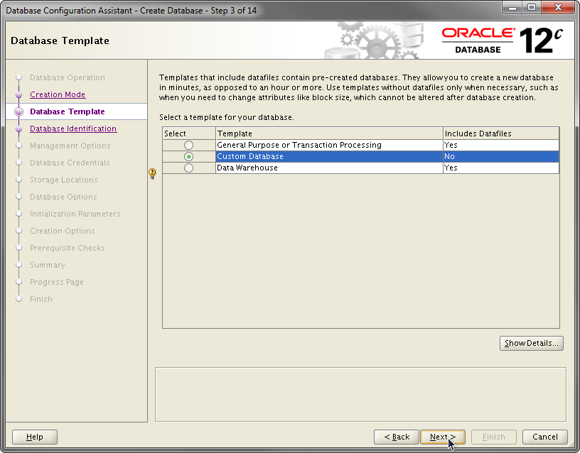 2014-07-30 11_55_08-Database Configuration Assistant - Create Database - Step 3 of 14