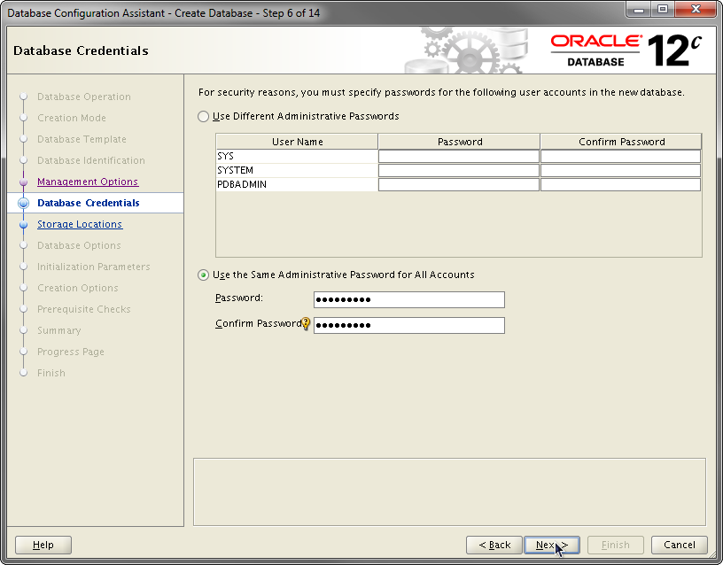 2014-07-30 11_55_43-Database Configuration Assistant - Create Database - Step 6 of 14