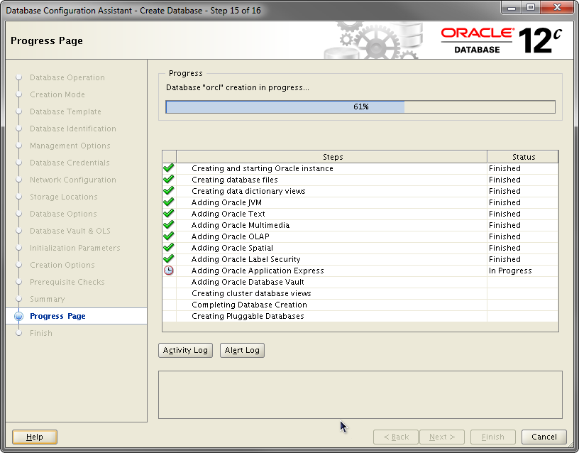 2014-07-30 13_55_56-Database Configuration Assistant - Create Database - Step 15 of 16